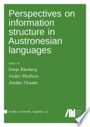 Perspectives on information structure in Austronesian languages