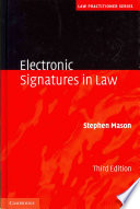 Electronic Signatures in Law