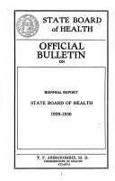 Report of the Georgia State Board of Health