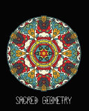 Sacred Geometry  Aztec Shield Mandala Art Journal Cover  Cornell Lined Notebook   Geometric Design for Yoga  Meditation  Dream Diary Or
