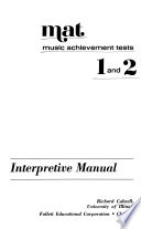 MAT: music achievement tests 1 and 2