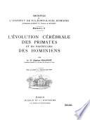 L'évolution cérébrale des primates et en particulier des hominiens