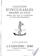Catalogues of incunabula and early printed books