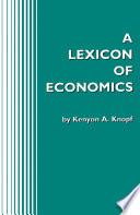 A Lexicon of Economics