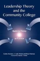 Leadership Theory and the Community College Pdf/ePub eBook