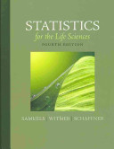Statistics for the Life Sciences Book