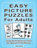 Easy Picture Puzzles For Adults Book