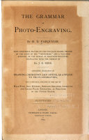 The Grammar of Photo engraving