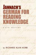 Jannach   s German for Reading Knowledge