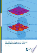 Role Of Surface Roughness In Tribology Book PDF