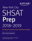 New York City SHSAT Prep 2018 2019