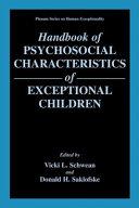 Handbook of Psychosocial Characteristics of Exceptional Children [Pdf/ePub] eBook