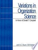 Variations in Organization Science