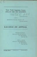 Supreme Court Appellate Division 1926 Vol. 17 Oct. Term