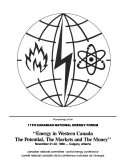 Proceedings of the Canadian National Energy Forum Book