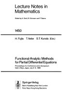 Functional analytic Methods for Partial Differential Equations