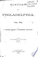 History Of Philadelphia 1609 1884