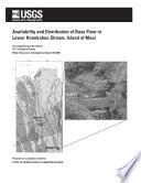 Availability and Distribution of Base Flow in Lower Honokohau Stream  Island of MauiHonokohau Book