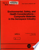 Environmental  Safety  and Health Considerations Book