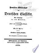 Familien Bibliothek Der Deutschen Classiker Gedichte Von C F Neuffer
