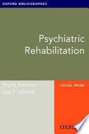 Psychiatric Rehabilitation  Oxford Bibliographies Online Research Guide