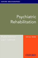 Psychiatric Rehabilitation: Oxford Bibliographies Online Research Guide