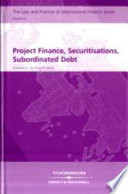 Project Finance, Securitisations, Subordinated Debt