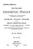 Travellers  Colloquial Italian
