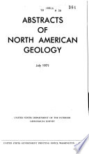 Abstracts of North American Geology