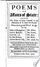 Poems on Affairs of State