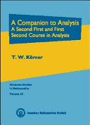 A Companion to Analysis