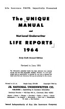 The Unique Manual and National Underwriter Life Reports