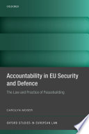 Accountability in EU Security and Defence Book