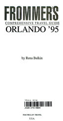 Frommer s Guide to Orlando  1995