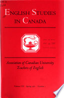 English Studies in Canada
