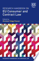 Research Handbook on EU Consumer and Contract Law