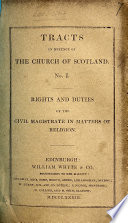 Tracts in Defence of the Church of Scotland  no  1 5