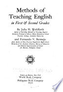 Methods of Teaching English in First & Second Grades