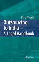 Pdf Outsourcing to India - A Legal Handbook Telecharger