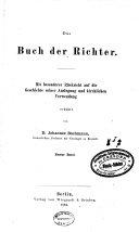 """""""Das"""" Buch Der Richter"""