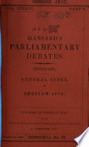 Hansard s Parliamentary Debates