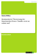 Pdf Kommentierte Übersetzung des französischen Textes