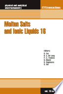 Molten Salts And Ionic Liquids 16 Book PDF