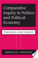 Comparative Inquiry In Politics And Political Economy