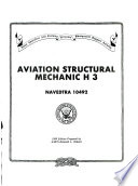 Aviation Structural Mechanic H 3