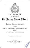 Catalogue Of Books