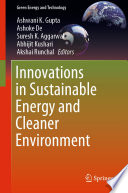 Innovations in Sustainable Energy and Cleaner Environment Book