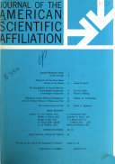 The Journal of the American Scientific Affiliation