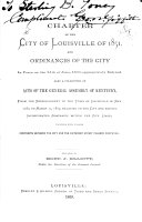 Charter of the City of Louisville of 1851