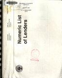 Numeric list of lenders